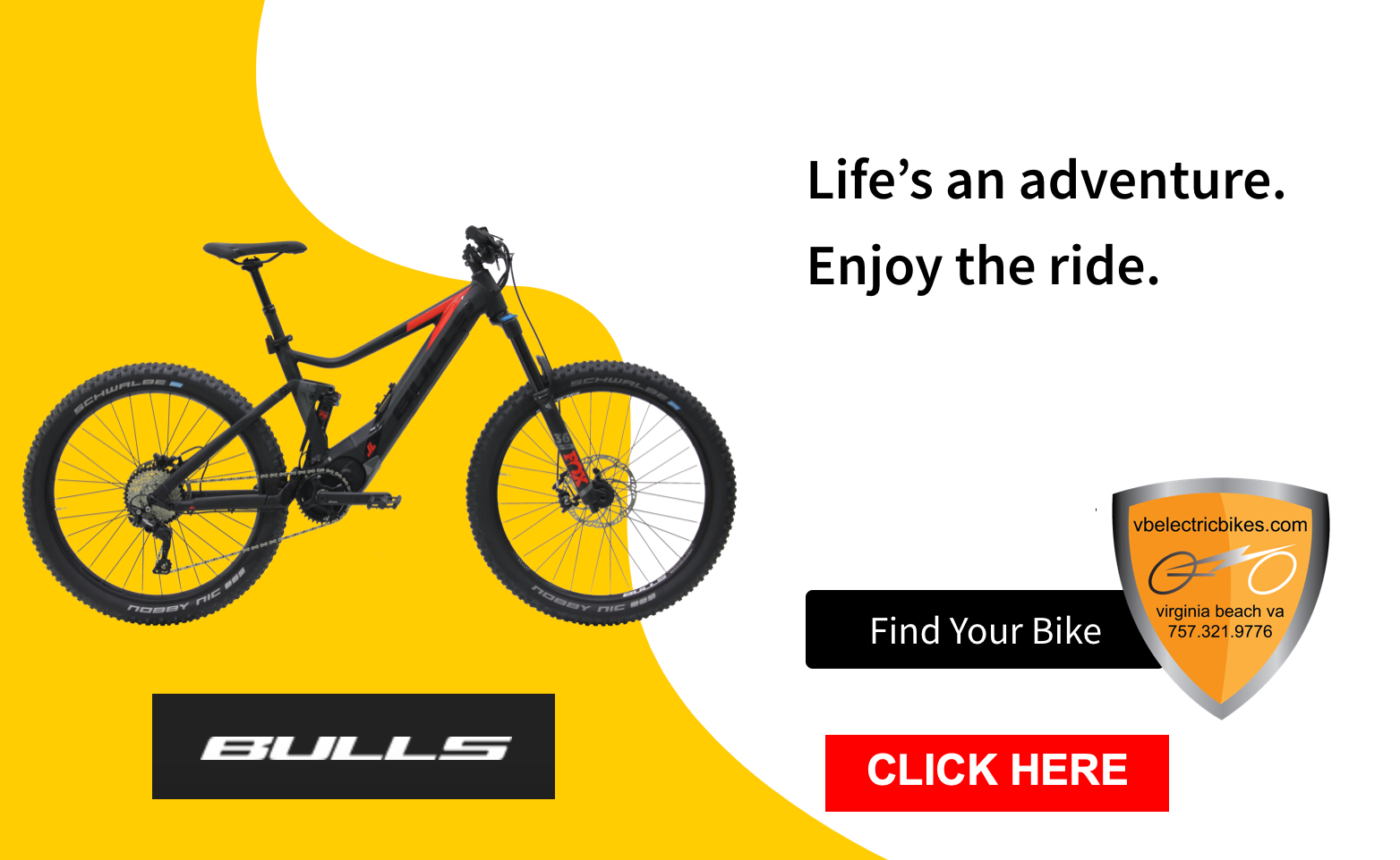Find Your BULLS E-BIKLE Click HERE