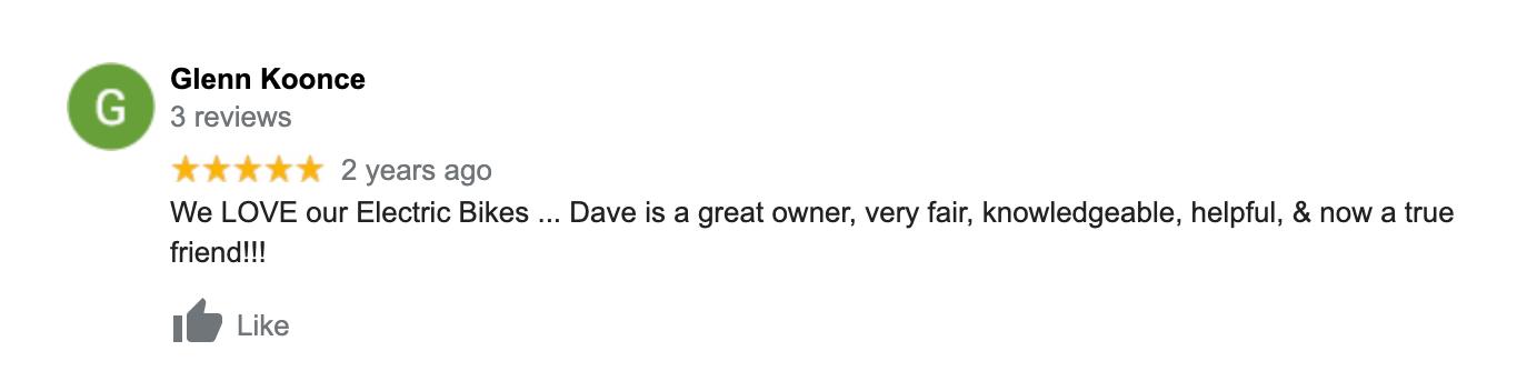 Glenn Koonce Google Review